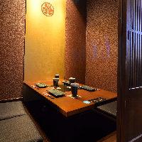 【全席個室】2名様~個室にご案内!プライベート空間でご飲食