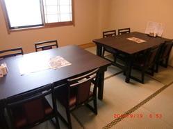 個室もテーブル席対応