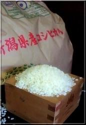 ■今月の米■新潟コシヒカリ アルカリイオン水で・・・。