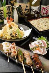 串焼、天ぷら、うまい酒! 仕上げは蕎麦で締めくくる