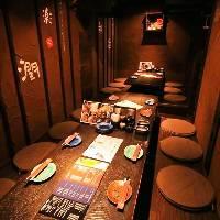 古民家風な空間が個室や広々お座敷も完備で様々な用途・人数に