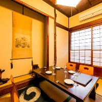 お茶屋の支度部屋として使用されたお部屋を個室として利用。
