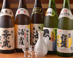 【寿司との相性◎】 寿司との相性抜群の日本酒や焼酎をご用意!