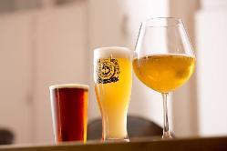 【自社醸造クラフトビール】 最大18種類のビールをご用意!