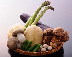 [旬の野菜山菜] 全国より厳選した季節の恵みを職人の匠技で!