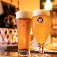 クラフトビールなど4種のビールを飲み放題で楽しめるコースも◎