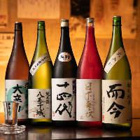 蔵元直送の地酒をはじめ、全国の厳選日本酒を各種ご用意しました