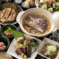 土鍋飯は、その季節で一番美味しい素材をお米と共に炊き込みます