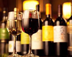 お手軽なグラスワインから本格的なボトルまで~楽しめます!