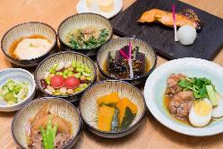 優しい京都おばんざいで心も身体も癒されてください。