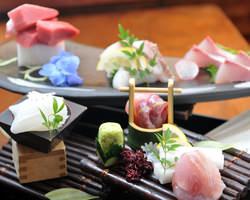 産地直送、旬の鮮魚を一番美味しいかたちでご堪能頂けます。