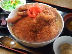 ぽん太名物!ソースカツ丼!!