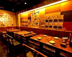 ◆お席・テーブル◆ 4~16名様迄のテーブル・半個室ございます