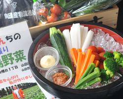 採れたて新鮮朝採り野菜! 神奈川県産の野菜も使用。