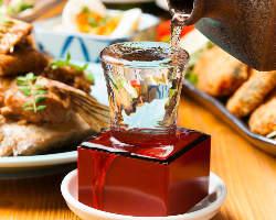 ◆地酒もお好きな容量で♪60ml~飲み比べができます!