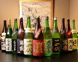 [和食に合う美酒多数] 店主が厳選。日本酒ほか国産ワインも♪