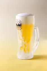 まだまだ暑い季節、冷たいビールをご用意しています。