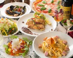 ☆グストーゾの宴コース☆ 料理6品・飲み放題3H¥3990