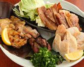 川俣シャモと岩中豚の炭焼き盛り合わせ(3~4人前)2980円