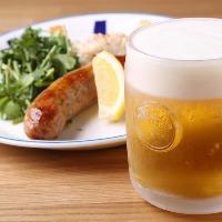 ★ビールとソーセージの組み合わせはいつ食べても良し★