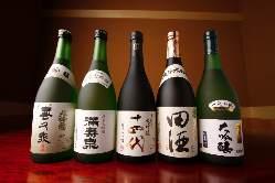 十四代など30~40種の日本酒を取り揃え。季節ものもあります