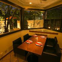 ご会食利用におすすめの完全個室を3部屋ご用意しております