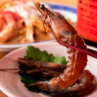 「天使の海老の天使の海老の紹興酒漬け」など台湾料理の数々