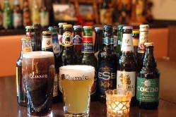 【世界のビール】 世界を知る店主が仕入れるビールは常時40種類