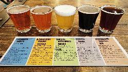 横須賀ビールに来たらまずはコレ!ビアフライト飲み比べセット。