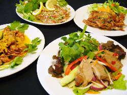 タイ風サラダいろいろありま~す。 ★イサーンサラダが人気★
