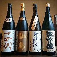 【厳選日本酒】 全国各地の蔵元から季節酒や限定酒も揃えます