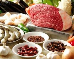 [安心の品質] 肉・魚介・野菜...食材はどれも新鮮なものを使用!