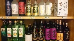 焼酎(グラス)400円~ ボトル1600円~