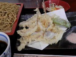 めごちの天ぷらと韃靼せいろのセット