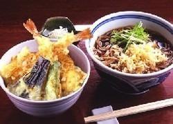 ◇ランチセット海老天丼とお蕎麦
