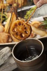 ★秘伝のソースで味わう串揚げは1本1本お店で手作り♪絶品★