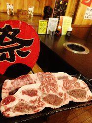 肉肉祭りコース!! 骨付きカルビ.上ハラミ.上タンも食べ放題