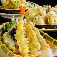 揚げたて熱々!人気の天ぷら♪旬の食材をご用意♪