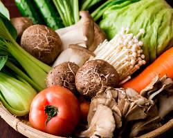 野菜もたっぷり食べられるのが嬉しい♪旬の野菜をてんこ盛り