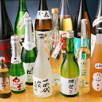 厳選日本酒約50本他、日本酒蔵が造る米焼酎など豊富にご用意
