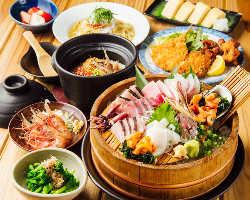 魚料理を中心としたコース★飲み放題込4000円からご用意!