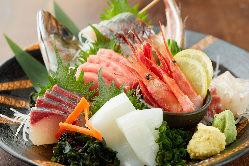 九州直送朝獲れ鮮魚!盛り合わせがお得!