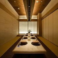 東京駅周辺での接待・会食・お祝いなどに21室の完全個室をご用意