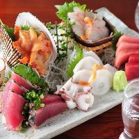 【市場仕入れの鮮魚】 店主自らが厳選する新鮮魚介をご堪能あれ