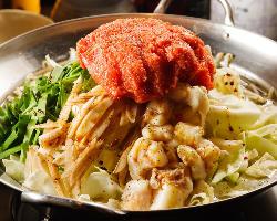 上質な和牛ホルモンを使用した『明太もつ鍋』は隠れた人気の一品