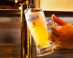 [プレモル超達人店]認定の一味違う生ビールをご堪能あれ!