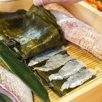 [熟成技術] 厳選魚介と素材に合わせた手法により旨味が増す