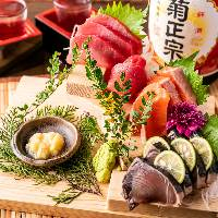 市場直送の鮮魚のお造り