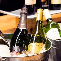 世界のワイン60種類以上の充実なワインリスト!