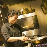 女性シェフの感性を存分に活かしたアラカルト中心のお料理です。
